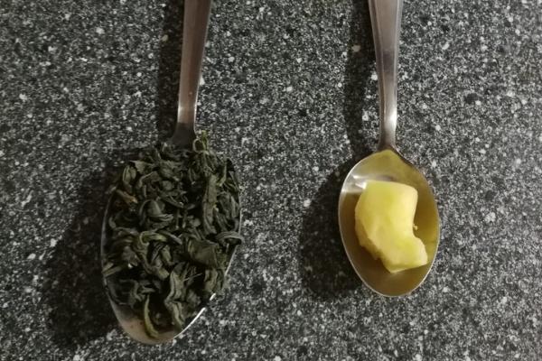 Dosis para preparar te verde con jengibre