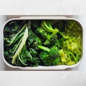 verduras de hojas verdes ricas y faciales de hacer