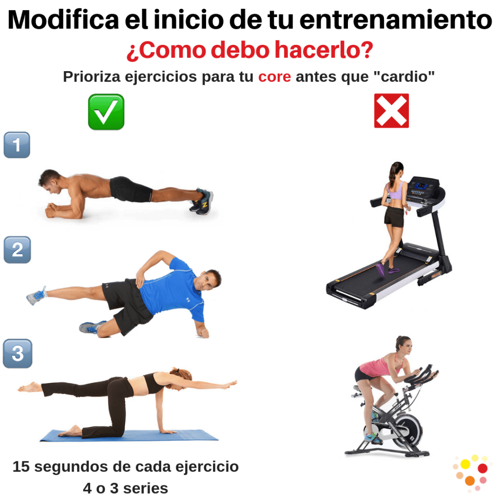 Realiza una correcta entrada en calor antes de entrenar