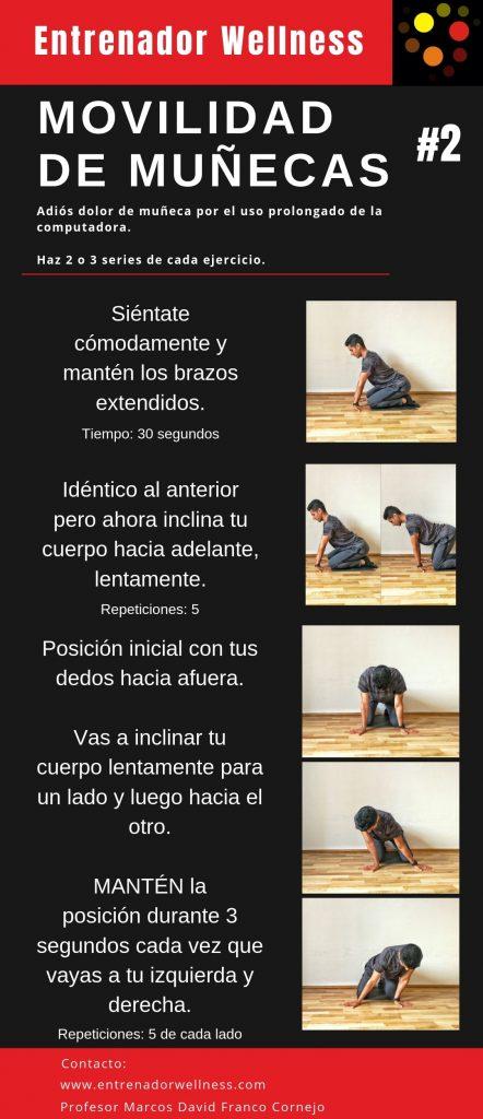 Ejercicios de movilidad para prevenir dolor articular de la muñeca