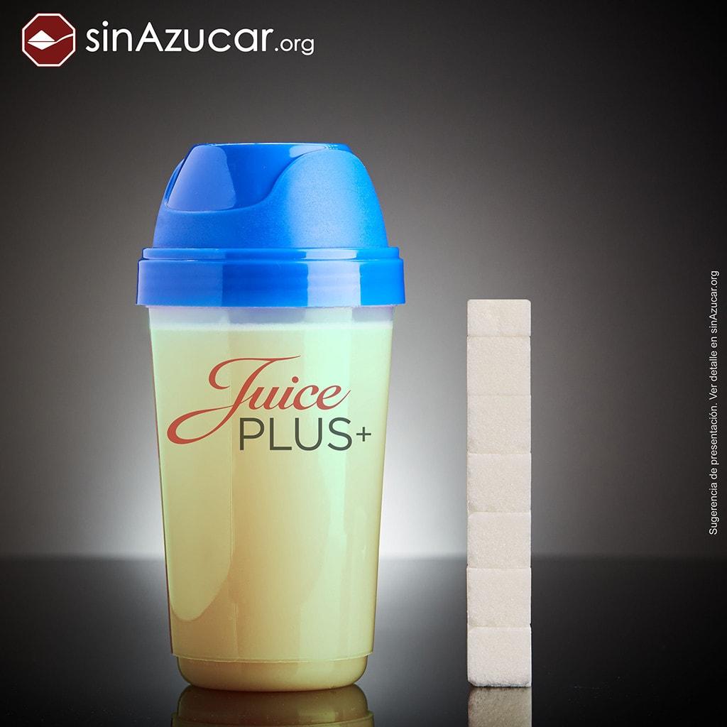 La cantidad de azúcar que contiene la bebida Juice Plus