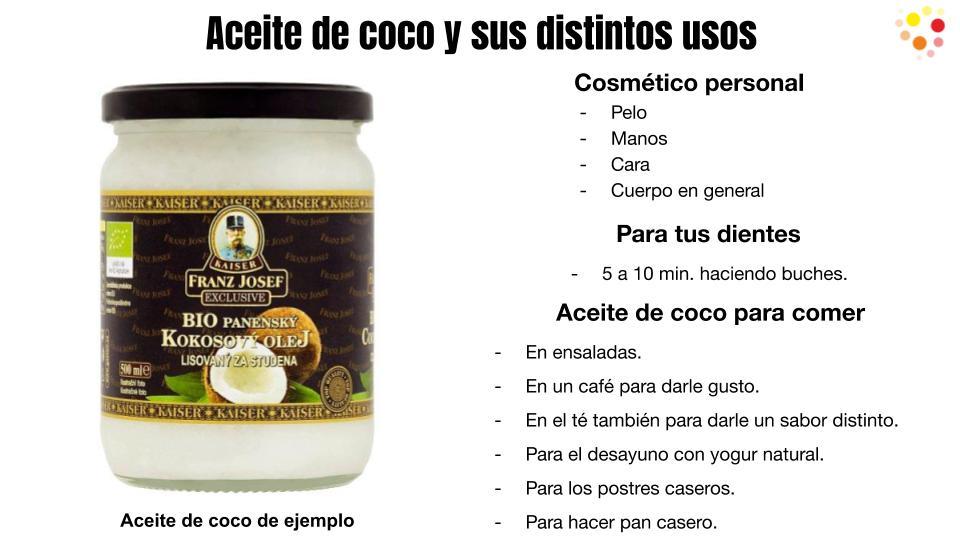 Aceite de coco para distintos usos en tu hogar.