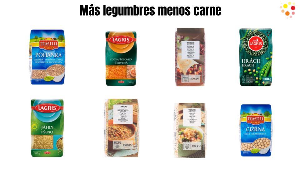 Más legumbres y menos consumo de carne animal.