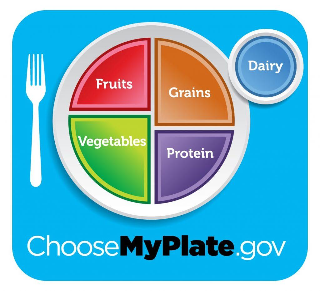 El plato que recomienda my plate para estar saludables