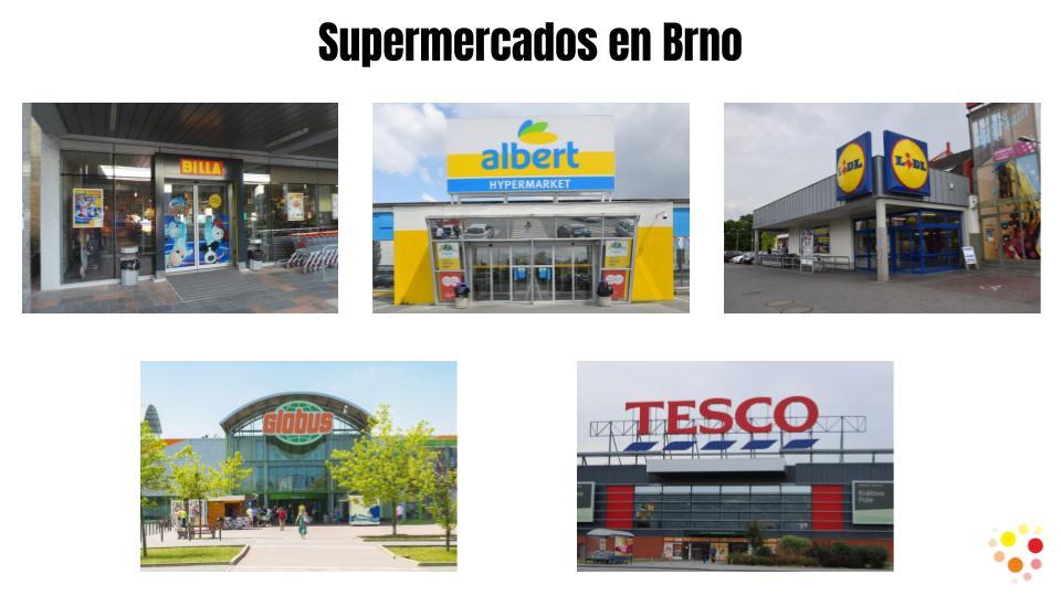 Distintos supermercados en Brno para realizar tus compras saludables